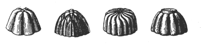 Moules à madeleine anciens